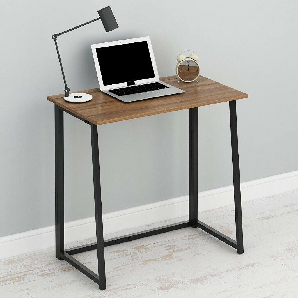 Cherry Tree Furniture Compact Folding Computer Desk Home