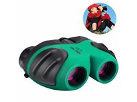 8x21 Compact Waterproof & Shock Proof Binoculars for Kids - Best Gifts (Green)