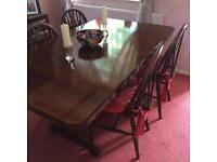 Dark wood lounge and dinning room furniture