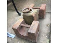 Cast iron 56lb weights 3 available