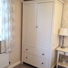 Ikea cream wardrobe set