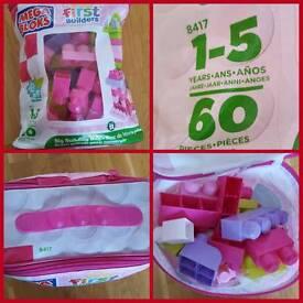 Mega Bloks - First Builders - 60 Pink / Purple / White bloçks