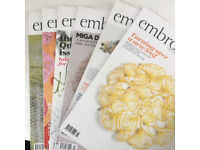 Embroidery Magazines x 6 issues