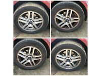 """Ford Fiesta 205-55-16"""" Alloy Wheels and Tyres Set of Four"""