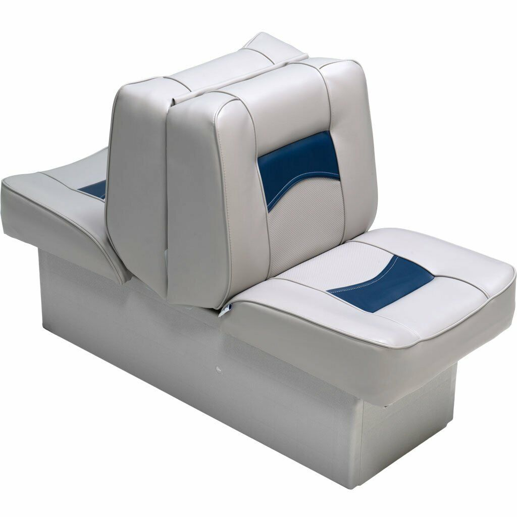 Enjoyable Details About Back To Back Boat Lounger Pontoon Vinyl Boating Fishing Reclining Folding Chair Creativecarmelina Interior Chair Design Creativecarmelinacom
