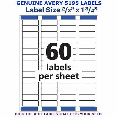 Avery Easy Peel Laser Return Address Labels 23 X 1 34 5195 Pick Your Own