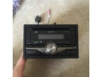 kenwood double din AM/FM, DAB, Ipod, Bluetooth, Phone Connectivity in car radio, color changing LED