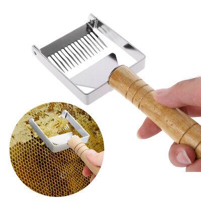 Beekeeping Equipment Uncapping Scraper Honey Fork Honeycomb Wooden Handle Tools
