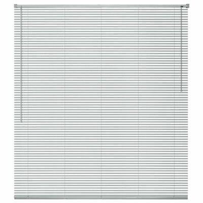vidaXL Persiana de Aluminio PVC 80x160 cm Plateada Veneciana Cortinas Accesorios