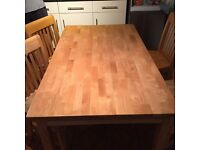 PINE TABLE + 4 CHAIRS