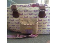 Yummy mummy changing bag pink lining