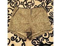 Top Shop gold & black high waisted shorts! BNWT Zara style H&M LV MK ASOS