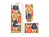 Orla Kiely Apron, Oven Mitt & Tea Towel Set, Pear