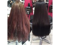 Hair colouring, highlighting and root touch ups