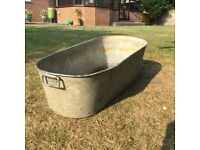 "OLD TIN BATH FOR GARDEN 47"" x 19"""