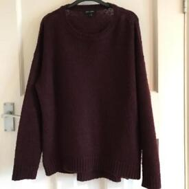 New Look Burgundy Knitted Jumper