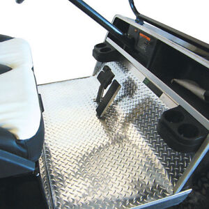 Club Car Ds Diamond Plate Rubber Mats Silver Floor Cover