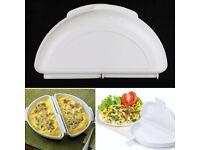 Microwave Omelette Maker, Egg Rings Stainless Steel Set of 2, Yellow Banana Slicer all 3 Items. BN