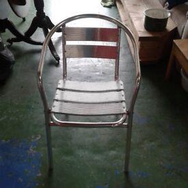 Chrome Bistro Garden Chairs