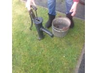 Water pump and bucket for sale will make great garden feature