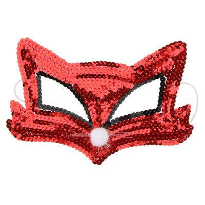 Pailletten Fuchs Auge halbe Gesichtsmaske Halloween Cosplay Party Kostüm