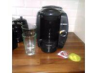 Bosch Tassimo Coffee Machine and Latte Glasses