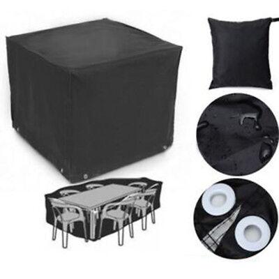 Classic Veranda Patio Bistro Table and Chair Set Cover Black 123x123x74cm (Veranda, Patio Set)