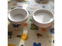 Extra white bowls and plates for Christmas