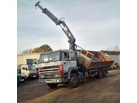 Left hand drive DAF 2700 ATI 10 tyres 26 ton tipper with HIAB 125 crane. MOT.