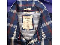 """GUESS"" Men's blue multi check shirt, very rare."