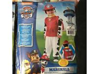 Paw Patrol Costumes Ages 3-4