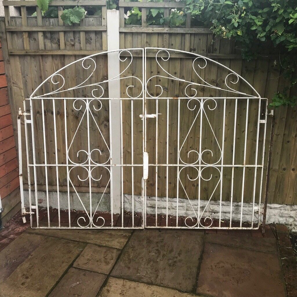 Wrought Iron Driveway Gates Garden Metal Steel Double House