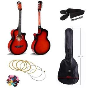 New Beginners 6 String 38 inches Acoustic Guitar With Guitar bag , Strap, and Pick - Free World wide Shipping