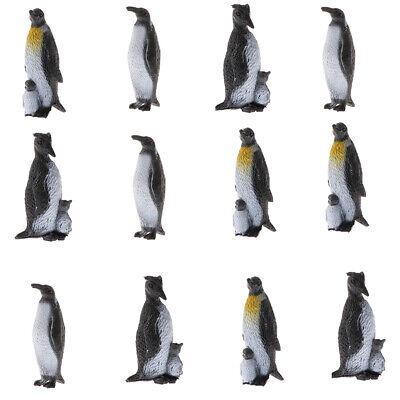 12 Stücke Mini Kunststoff Pinguine Vogel Spielzeug Meer Kreatur Modelle ()