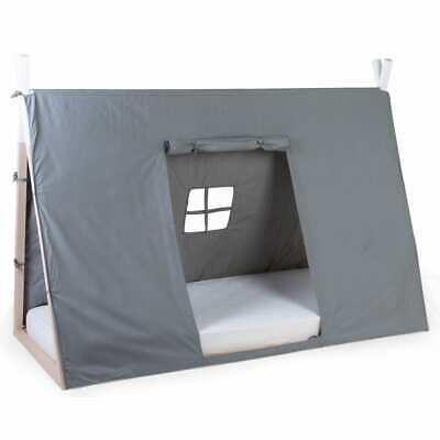 CHILDHOME Abdeckung für Tipi Bett 90x200cm Grau Kinderbett Zelt Kinderhaus