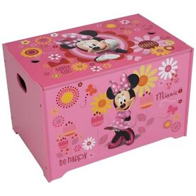 minnie mouse toy box, toy storage chest, new