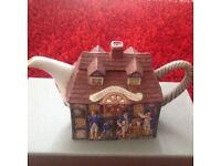 Pub teapot Staffordshire pottery