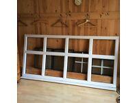 pvc window, white double glazed