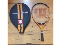 Wilson 'Whack Attack' junior tennis racquet with case