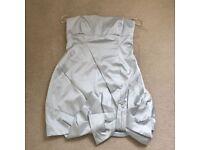 Karen Millen Bow Dress in Pale Blue - Size 12UK - used