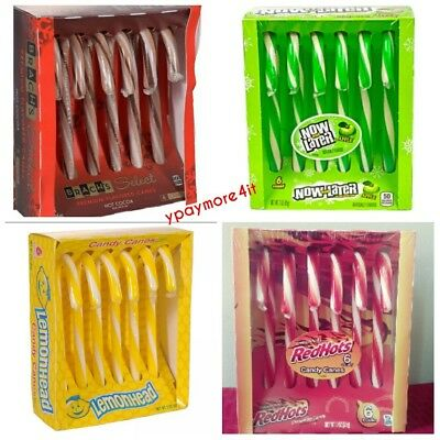 Flavored Holiday Edible Candy Canes HOT COCOA * REDHOT * LEMONHEAD * NOWANDLATER ()