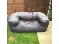 Double seat beanbag sofa