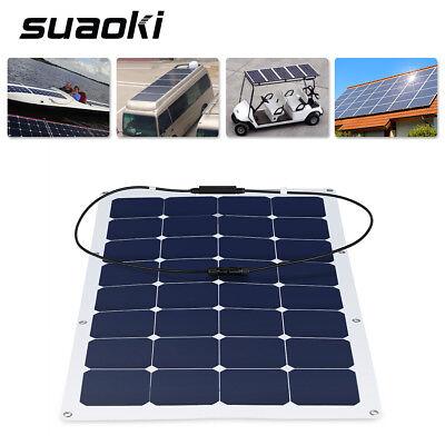 Suaoki 100W Solar Semi Bendable Monocrystalline Panel MC4 RV Sailing-boat Module Power