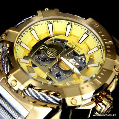 Invicta Star Wars C3PO Bolt Gold Plated Steel NH70 Automatic Ltd Ed Watch New B C Gold Bracelets
