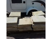 Concrete patio slabs - 51 in total (new when taken up so unused and excellent condition)