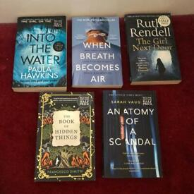 5 great reads for £18. Can be sold separately