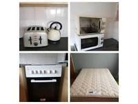 Washing machine. Dishwasher. Hoover. Bed etc