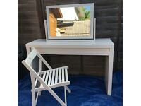 Malm dressing table with mirror