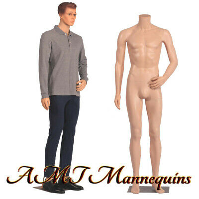 Male Mannequin 6ft Removable Head Turns Full Body Realistic Manikin-ym8-f