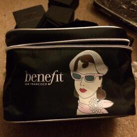 Benefit cosmetics make up bag